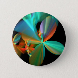 Colorful Metallic Flower Petals 2 Inch Round Button