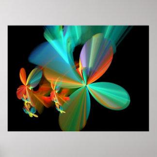 Colorful Metallic Flower Petals Poster