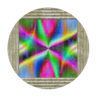 Colorful Metallic Fractal Lustre Cutting Board