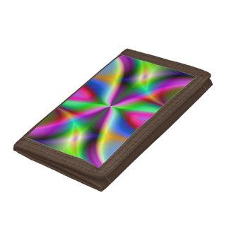 Colorful Metallic Fractal Lustre Tri-fold Wallet