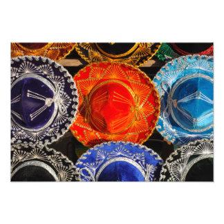 Colorful Mexican sombreros Photo Print