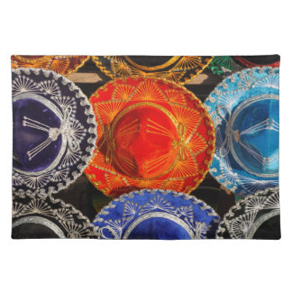 Colorful Mexican sombreros Placemat