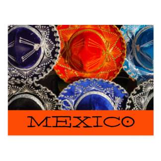 Colorful Mexican sombreros Postcard