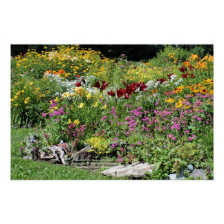 Colorful Mid Summer Gardens!, 24x16 Poster