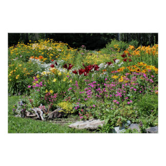 Colorful Mid Summer Gardens! 2, 36x24 Poster
