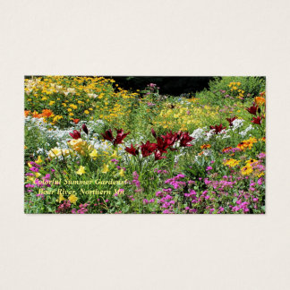 Colorful Mid-Summer Gardens! Business Card