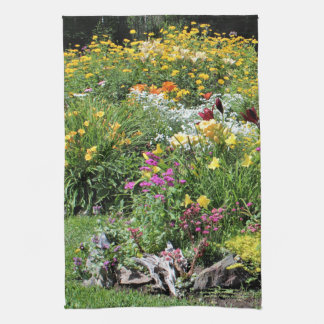 Colorful Mid Summer Gardens! Kitchen Towel
