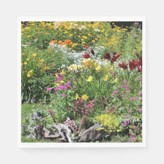 Colorful Mid Summer Gardens! Napkin