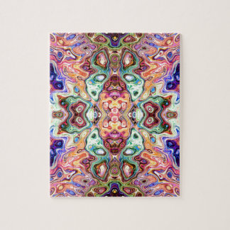 Colorful Mirror Image Abstract Jigsaw Puzzle