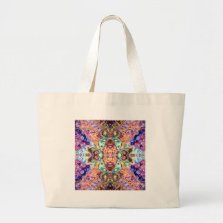 Colorful Mirror Image Abstract Large Tote Bag