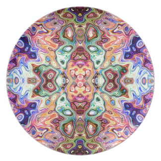 Colorful Mirror Image Abstract Plate