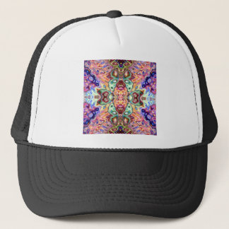 Colorful Mirror Image Abstract Trucker Hat