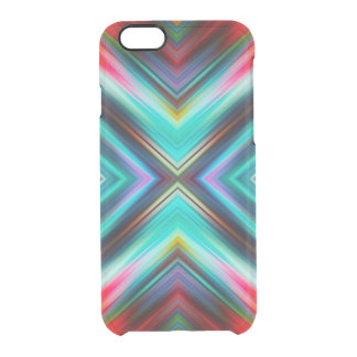 Colorful Mirrored Triangles Clear iPhone 6/6S Case
