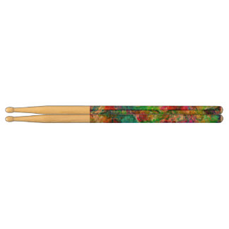 Colorful mix abstract design drumsticks