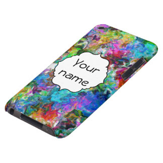 Colorful mix abstract design iPod touch covers