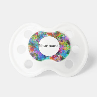 Colorful mix abstract design pacifier
