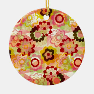Colorful MIX Round Ceramic Ornament