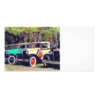 Colorful Model A's Custom Photo Card