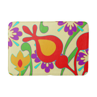 Colorful Modern Abstract Art Bathroom Mat