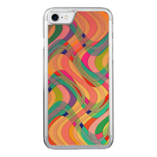 Colorful Modern Abstract Design Carved iPhone 8/7 Case