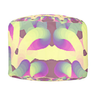 Colorful modern Abstract design Pouf