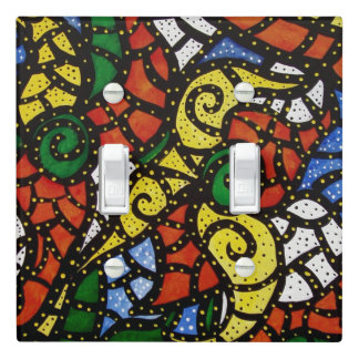 Colorful Modern Abstract Light Switch Cover
