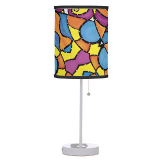 Colorful Modern Abstract Pattern Bright Colors Table Lamp