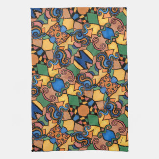 Colorful Modern Abstract Pattern Kitchen Towel