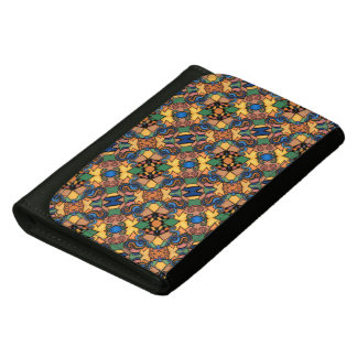 Colorful Modern Abstract Pattern Leather Wallets