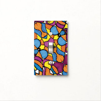 Colorful Modern Abstract Pattern Light Switch Cover