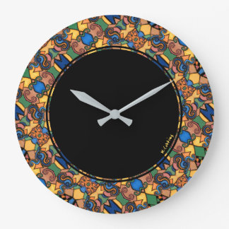 Colorful Modern Abstract Round Large Clock
