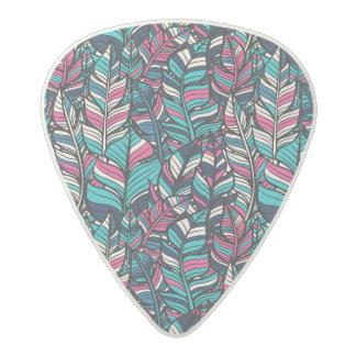 Colorful modern Boho feather seamless pattern Acetal Guitar Pick