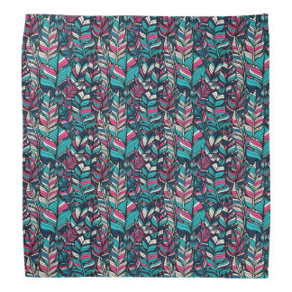 Colorful modern Boho feather seamless pattern Bandana