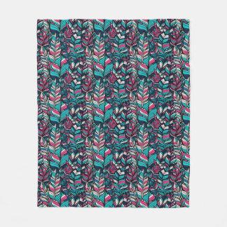 Colorful modern Boho feather seamless pattern Fleece Blanket