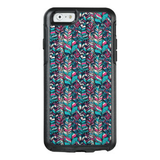 Colorful modern Boho feather seamless pattern OtterBox iPhone 6/6s Case