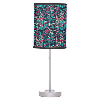 Colorful modern Boho feather seamless pattern Table Lamp