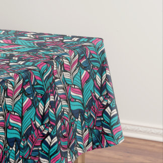 Colorful modern Boho feather seamless pattern Tablecloth