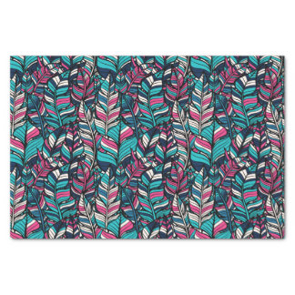 Colorful modern Boho feather seamless pattern Tissue Paper