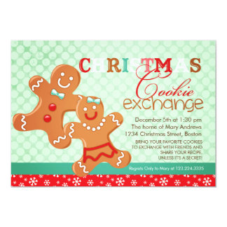 Colorful Modern Christmas Cookie Exchange Swap Card