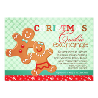 Colorful Modern Christmas Cookie Exchange Swap Announcement
