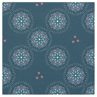 Colorful modern design with floral pattern fabric