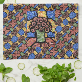 Colorful Modern Floral Pattern Kitchen Towel