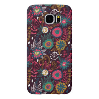 Colorful Modern Floral Pattern Samsung Galaxy S6 Cases