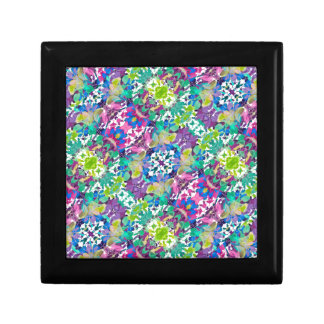 Colorful Modern Floral Print Gift Box