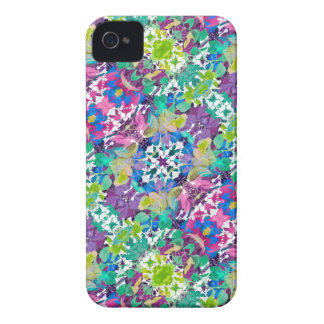 Colorful Modern Floral Print iPhone 4 Cover