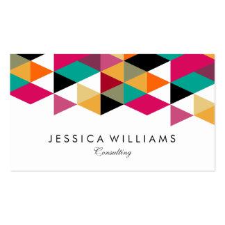 Colorful Modern Geometric Design Business Card
