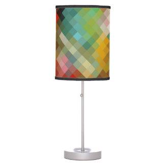 Colorful Modern Geometric Diamond Pattern #15 Table Lamp