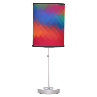 Colorful Modern Geometric Diamond Pattern Table Lamps