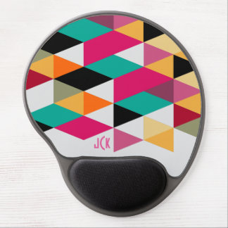 Colorful  Modern Geometric Pattern Gel Mouse Pad