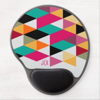 Colorful  Modern Geometric Pattern Gel Mouse Pad